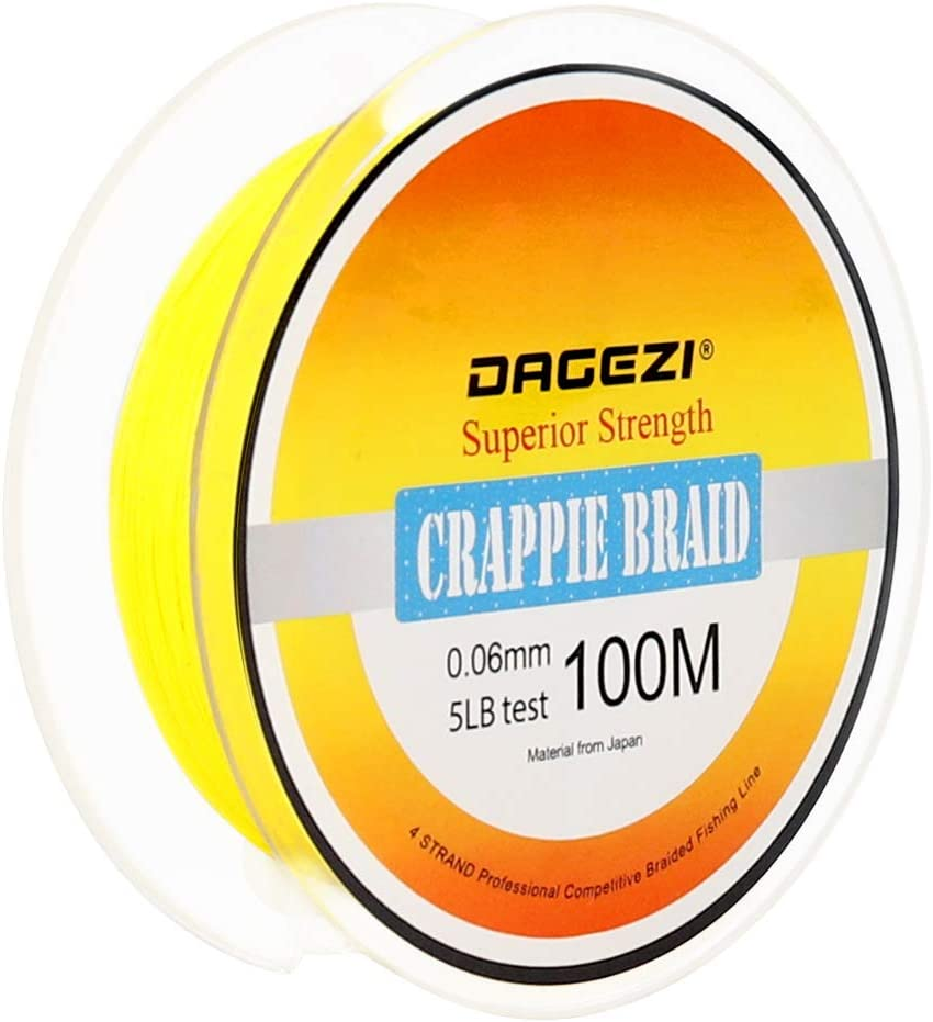 DAGEZI Braided 5LB Fishing Line 109yd Advanced Molecular Design PE 0.06MM 5LB Fishing Line More Durable and Corrosion Resistant