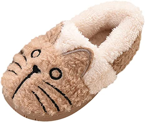 New Baby Boy Girls Toddler Winter Warmer Shoes Soft Leather Slippers 6-24 months
