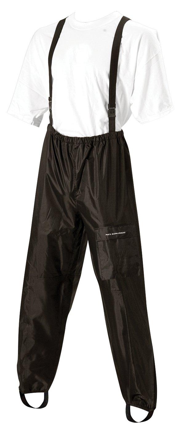 Nelson-Rigg 411-008 AS-250 Aston Rain Pants , Gender: Mens/Unisex, Distinct Name: Black/Black, Primary Color: Black, Size: 4XL