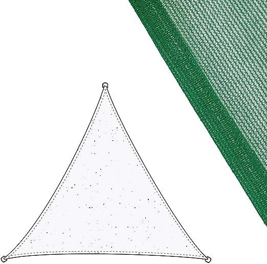Toldo Vela Triangular Verde de Fibra para jardín de 3 m - LOLAhome: Amazon.es: Jardín