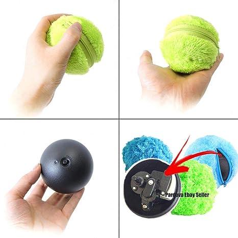 leegoal Magic Roller Ball Toy,Pelota Perro con Movimiento,Juguete Interactivo Eléctrico para Perro Gato Mascotas,ABS Material/Diametro 8cm (1 Rolling Ball 4 ...