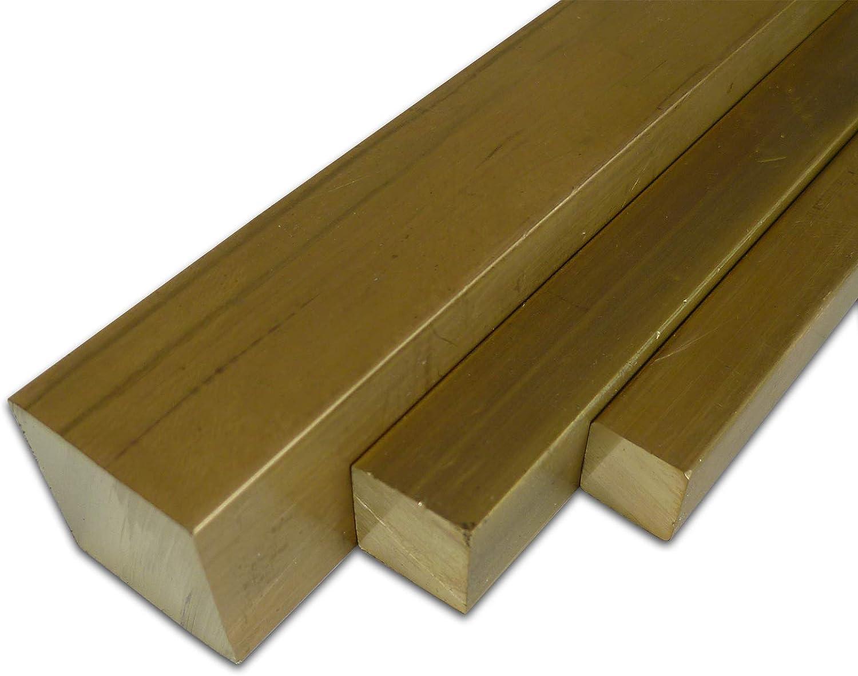 longueur env 500/mm + 0//de 5/mm B /& T m/étal laiton ms 58/Barres carr/é 10/x 10/mm 50/cm