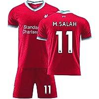 MCE Kindervoetbal Jersey Set Mohamed Salah #11 Fans Ademend Voetbal Training Camp T-Shirt Set