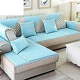 Sofa cushions,non-slip simple modern living room european solid wood leather sofa cover-H 70x150cm(28x59inch)