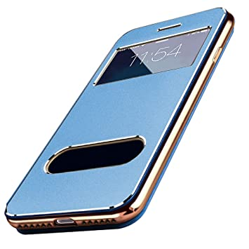 20654e48c6 Amazon   【E-HOME】 iPhone8 Plus iPhone7 Plus 手帳型ケース 窓付き ...
