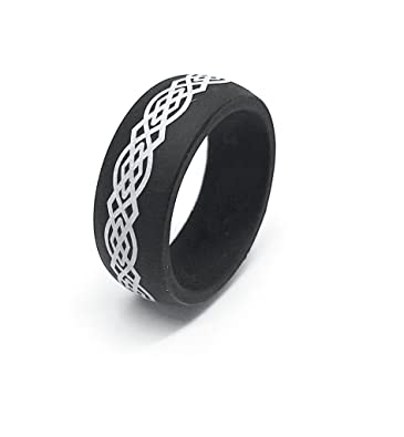 9mm men or silicon rubber celtic knot design
