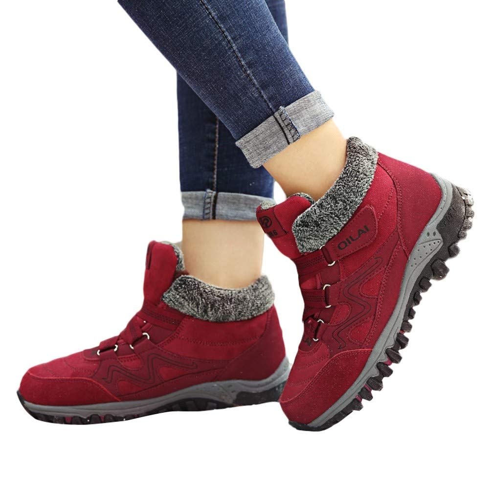 iHAZA Femme Chaussures de Sport pour Dé contracté es Hiver au Chaud dans des Chaussures de Velours