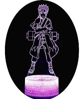 luz de noche 3d Naruto Anime 3D Night Light Lámpara de Mesa ...