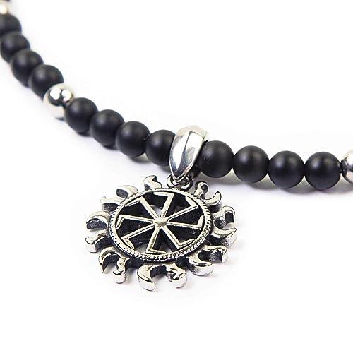 Sun Cross - SKULLS AND SPIRITS - moderno collar de perlas y ...