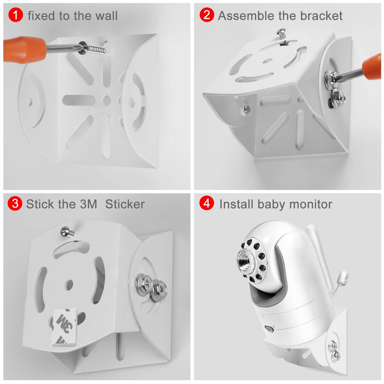 Adjustable Angle Mount for Infant Optics DXR-8, Motorola, Samsung, Babysense, HelloBaby and Most Universal Monitors Camera,Aluminum Alloy Material by Alertcam (Image #5)