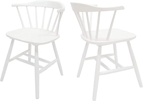 Christopher Knight Home Mia Farmhouse Spindle Back Rubberwood Dining Chairs Set of 2