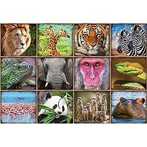 Educa Borras 1000 Collage Con Animali Selvatici Puzzle Colore Vario 17656
