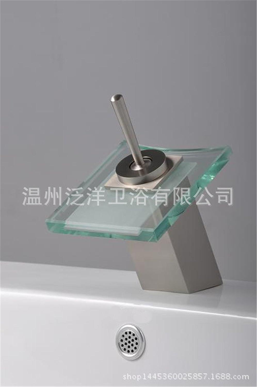 Hlluya Wasserhahn für für für Waschbecken Küche gemäßchte Kupfer Bad Armatur mit Glas Waschtisch Armatur Armaturen 029d8a