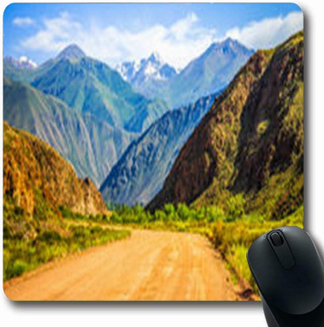 Luancrop Alfombrillas Hill Mountain Road Spring Ranges Parques Naturales Al Aire Libre Rock Oblong Gaming Mouse Pad Antideslizante Estera de Goma: Amazon.es: Electrónica