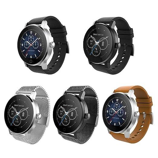 Oshide SMA-09 1.28 Pulgadas Bluetooth Llamando Música Reproducción de Monitoreo de Frecuencia Cardíaca Reloj Inteligente