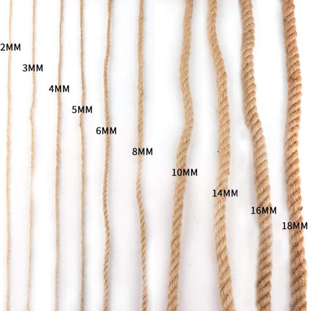 Size : 32mm Hemp Rope Givd Corda di Iuta Intrecciata 1-32mm Cordone di macram/è di Iuta Forte Spesso for Giardinaggio Fagottatura Decorazione Graffio di Gatto Prezzo al Metro