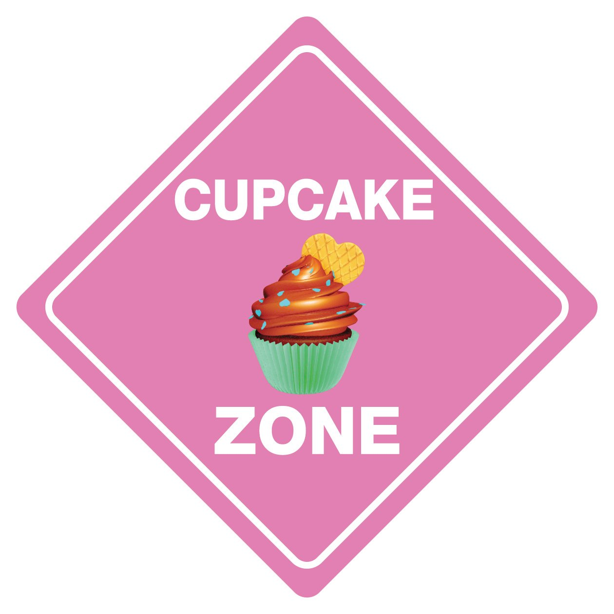 CUPCAKE ZONE Funny Novelty Crossing Sign