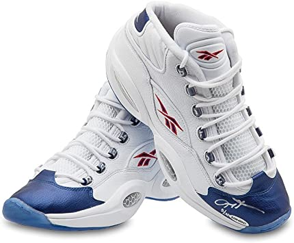 Espacioso Consultar Línea de visión  Allen Iverson Autographed/Signed Reebok Question Mid Shoes with Blue Toe -  76ers at Amazon's Sports Collectibles Store