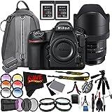 6Ave Nikon D850 DSLR Camera (Body Only) 1585 International Model + Sigma 12-24mm f/4 DG HSM Art Lens for Nikon F + Nikon EN-EL15a Rechargeable Lithium-Ion Battery Bundle
