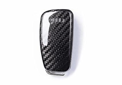 Carcasa para llave plegable y mando a distancia de fibra de carbono para Audi