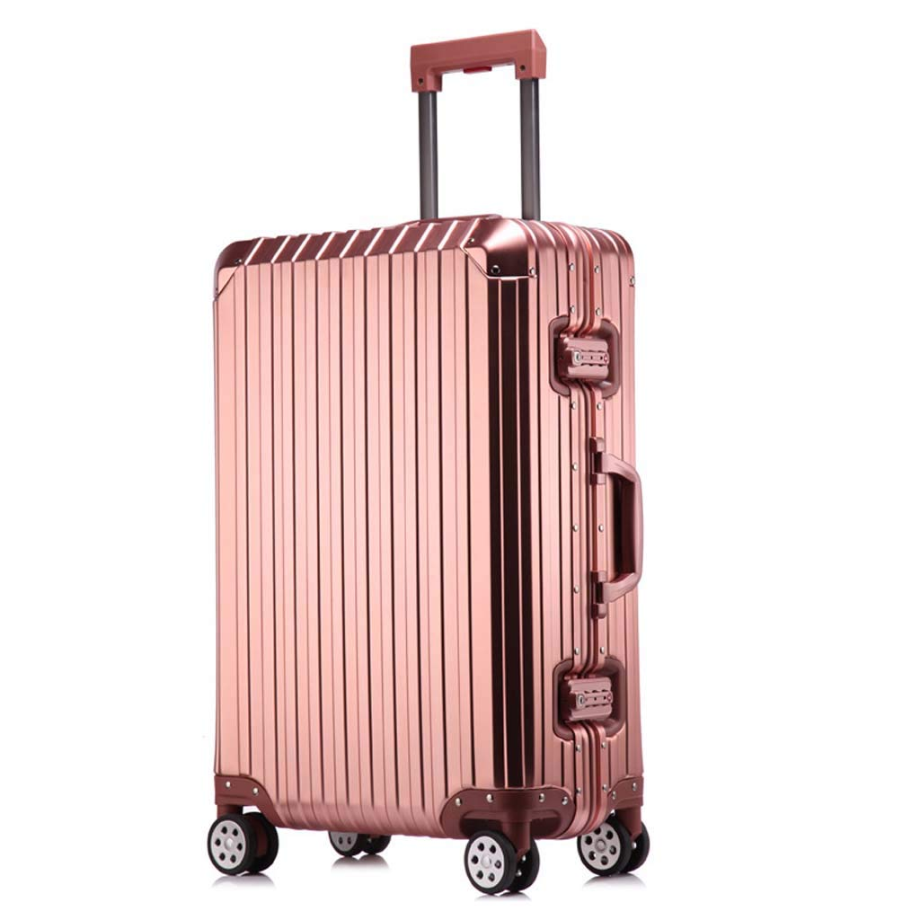 Color : Rose Gold, Size : 20 inches CLOUD Luggage Sets Travel Suitcase Male and Female Lightweight ABS Air Carrier Trolley Case Lock 4 Wheels