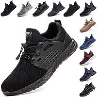 Zapatos De Seguridad para Hombre con Puntera De Acero Mujer Calzado De Trabajo Zapatos De Deportivos Transpirables…