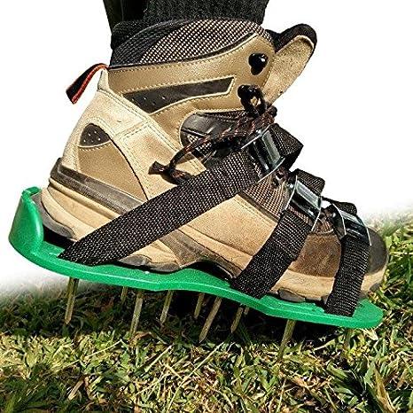 Invierno césped Tratamiento - Revive Tus raíces césped con aireador de césped zapatos con clavos zapatos - resistente, 2