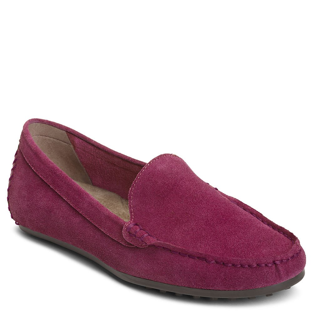 Aerosoles Women's Over Drive Loafer, Purple Suede, 6.5 M US