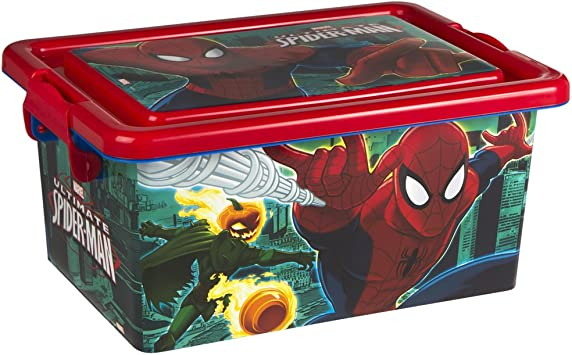 ColorBaby - Caja ordenación 7 litros, diseño spiderman (76603 ...