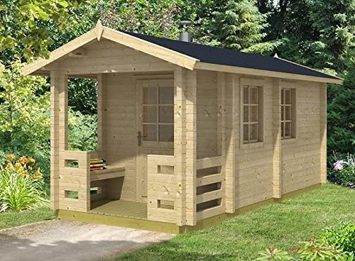 Jardín Casa Sauna Oskari 58 ISO bloque casa 234 x 500 cm 58 mm bloque madera casa: Amazon.es: Jardín