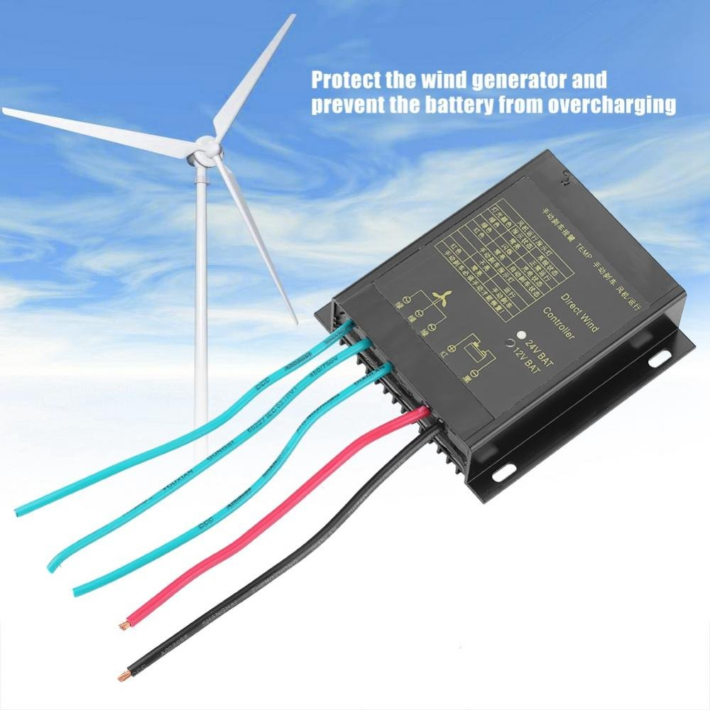 Yosoo Wind Charge Controller For Turbine Generator 3 Phase Wiring Diagram 400w Waterproof 12v 24v Garden