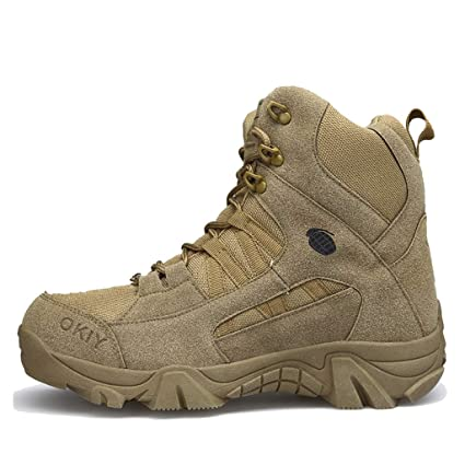 c0101ebe8333b Amazon.com : Alaec Army Military Combat Boots Outdoor Patrol High ...