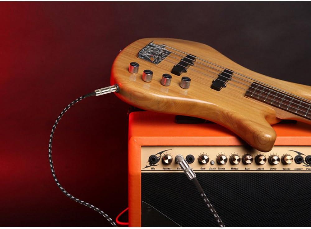 anpro - Cable de 3 m para Instrumento y guitarra, 6,3 mm ...