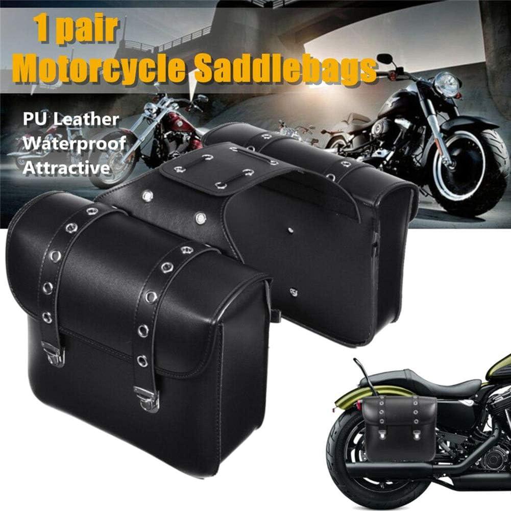 Ggaggaa Sacoche de Selle 1 Paire Sacoche de Selle pour Moto en Cuir PU kit pour sacoches lat/érales Sacs /étanches