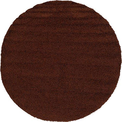 Chocolate 8' Round Area Rug - 1