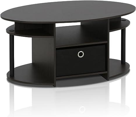 Amazon Com Furinno Coffee Table With Bin Walnut 15079wnbk Furniture Decor