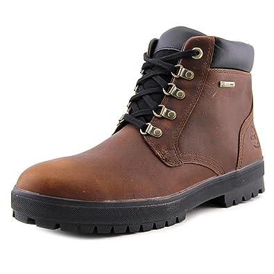 Timberland Men's Bush Hiker Waterproof Chukka Dark Brown Shoe