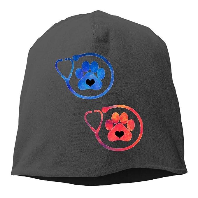 e2d5f06205b Amazon.com  Veterinary Medicine Paw Winter Beanie Skull Cap Warm ...