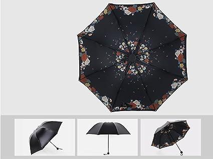 A Paraguas Plegable Paraguas Anti-ultravioleta Paraguas Soleado Paraguas Negro Paraguas