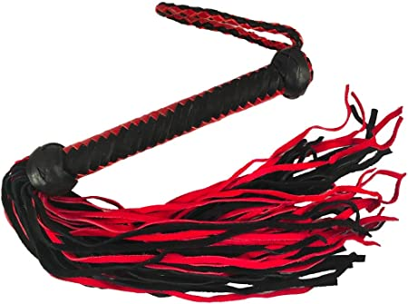 Style Choice Prairie Horse Supply Straight or Knobbed Flogger Whip Crop Solid Rod with Soft or Thick Leather Tails