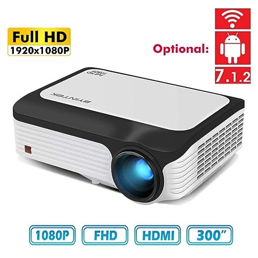 YYBF Proyector Mini Portátil 3800 Lúmenes Full HD Proyector ...
