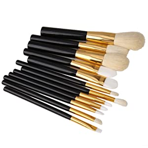 Jocestyel 12 Pcs Makeup Brushes Set Foundation Powder Eyeshadow Blush Brush Cosmetic Tool Kit