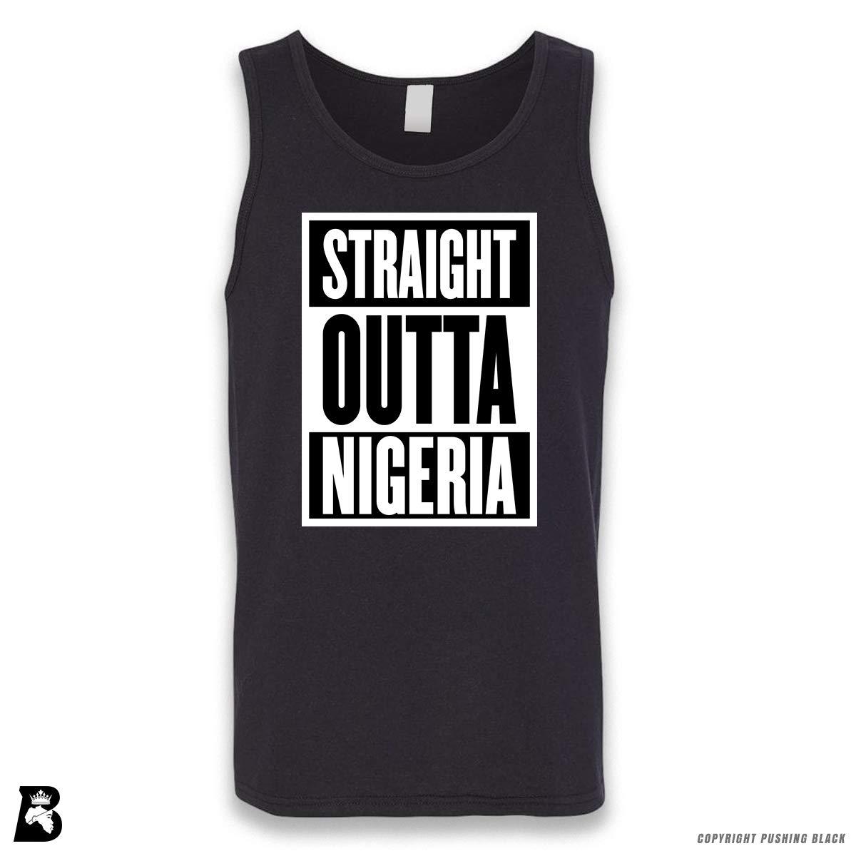 Pushing Black Straight Outta Nigeria Sleeveless Unisex Tank Top