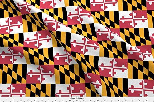 Spoonflower Maryland Fabric Maryland Flags - True Color by E