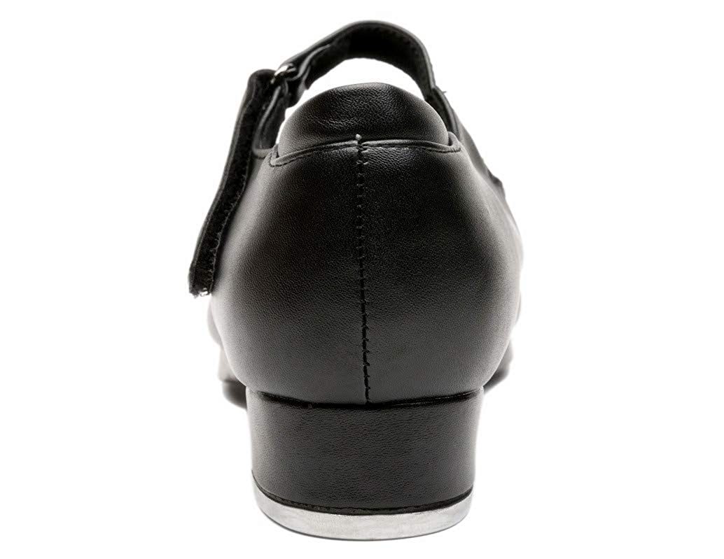 NLeahershoe Slide Buckle Leather Tap Shoes Dancing Shoes for Girls Toddler//Little Kid//Big Kid