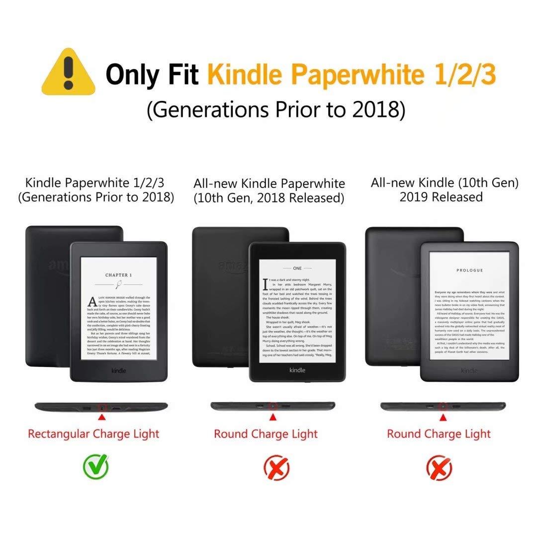 Funda para Kindle Paperwhite MOKASE Piel sint/ética, magn/ética, Resistente al Agua Color Blanco