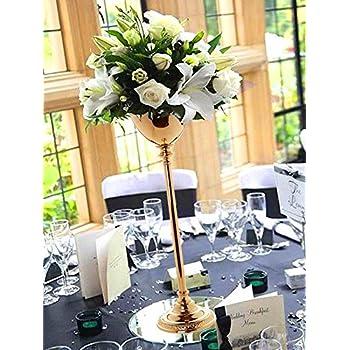 Amazon Com Efavormart 2 Sets 30 Tall Gold Metallic Floral Vase W