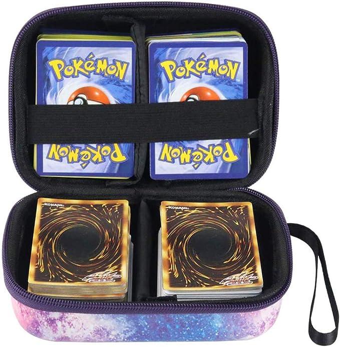 Support de Jeu de Cartes avec s/éparateur Amovible Cpano Hard Galaxy Travel Sac de Transport pour Cartes /à Collectionner Pokemon Galaxie Peut contenir jusqu/à 400 Cartes