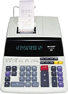 Sharp EL1197PIII Two-Color Printing Desktop Calculator Black/Red Print 4.5 Lines/Sec