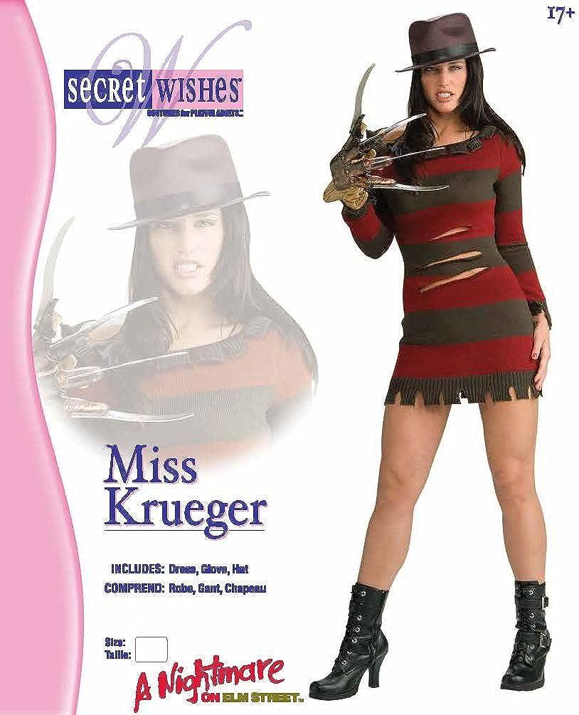 Femmes Enfants Freddie Krueger nightmare on Elm Street Halloween Fancy Dress Costume